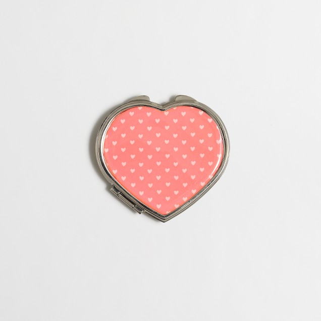 Girls' hearts compact mirror