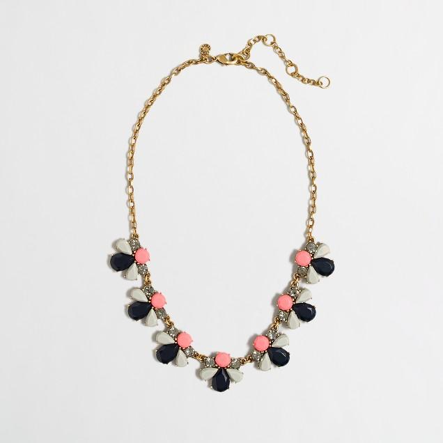Factory neon stone petal necklace