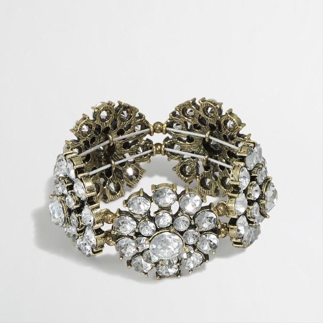 Factory crystal blossoms bracelet