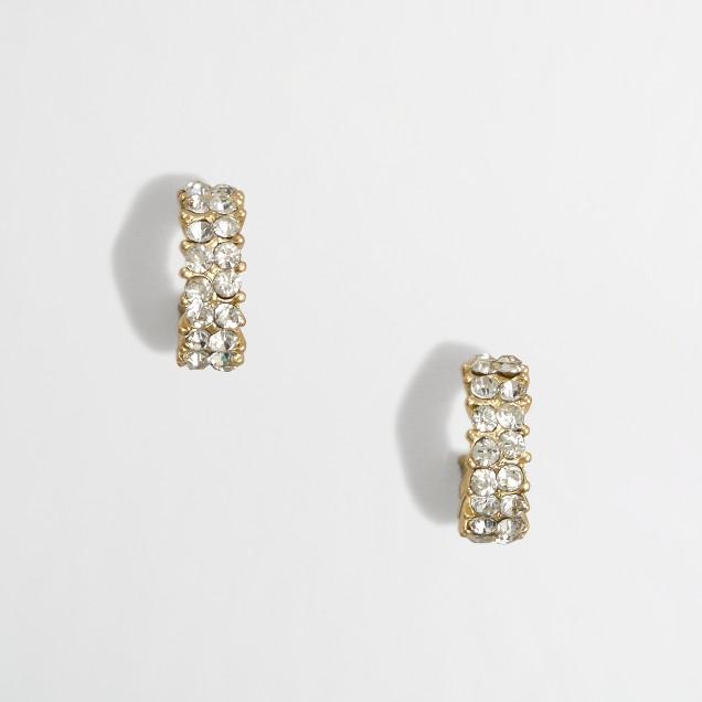Factory tiered crown earrings