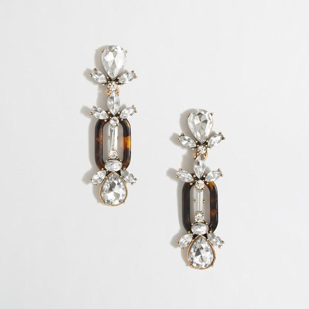 Factory stacked resin loop earrings
