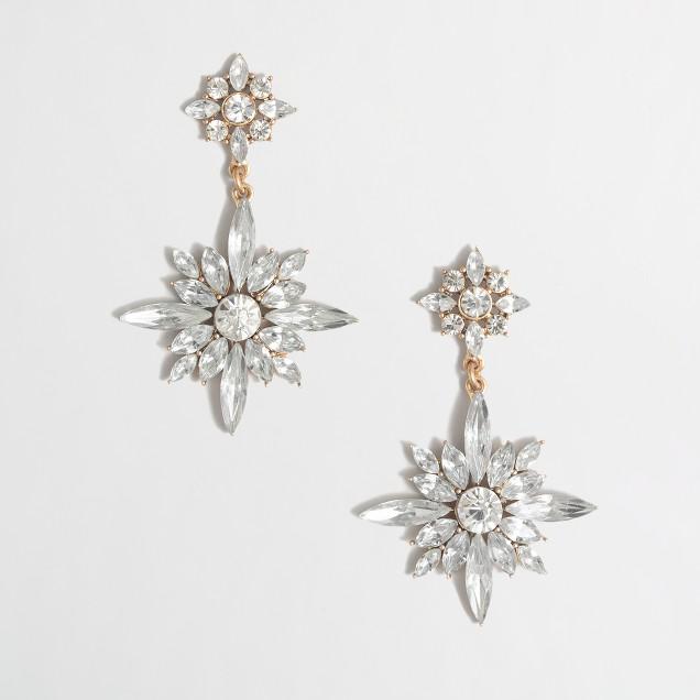 Factory crystal star pendant earrings