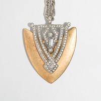 Factory shield pendant necklace