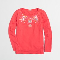 Factory girls' long-sleeve jewels keepsake tee