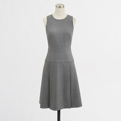 Factory pleated flannel dress