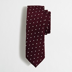 Wool dot tie