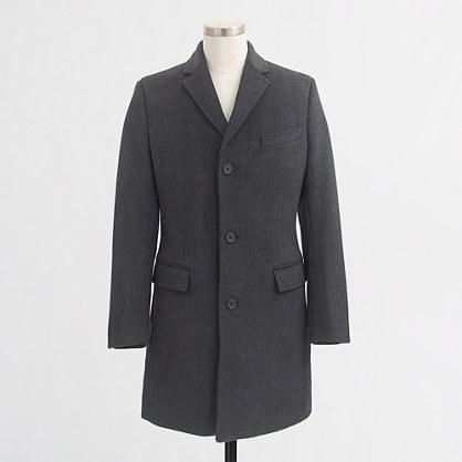 Factory Thompson topcoat in herringbone