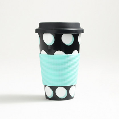 Ceramic travel coffee mug