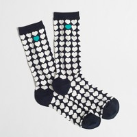 Factory stacked hearts trouser socks