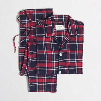 Slim flannel pajama set