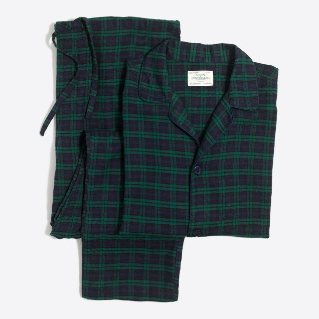 Slim flannel pajama set
