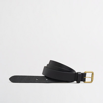 Zigzag leather belt