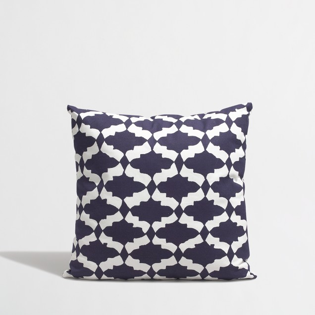 Factory graphic-print throw pillow