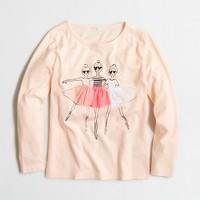 Girls' long-sleeve ballerinas keepsake T-shirt