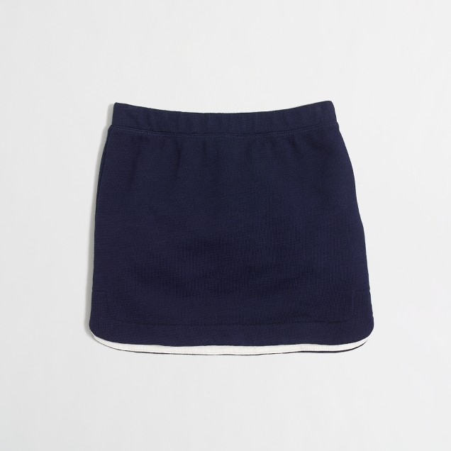 Girls' shirttail hem skirt