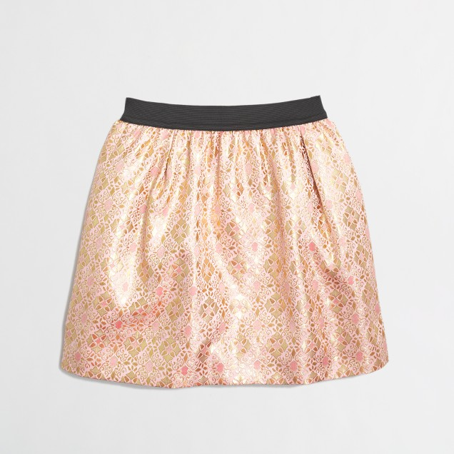 Factory girls' jacquard skirt