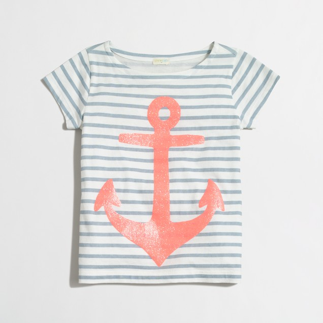 Girls' anchor keepsake t-SHIRT
