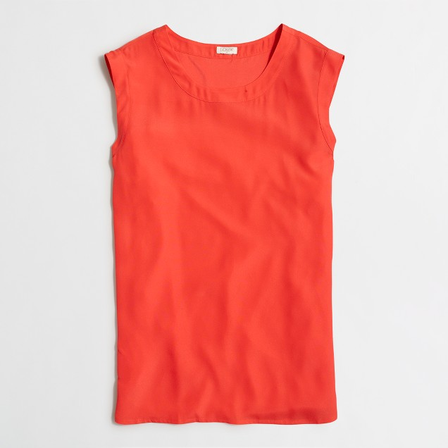Petite drapey sleeveless top