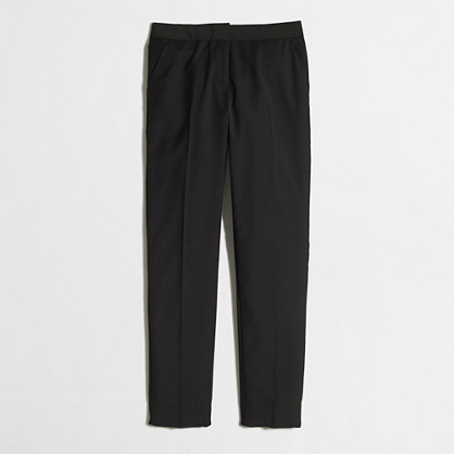 Cropped suiting pant in wool