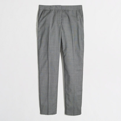 Petite cropped suiting pant in wool