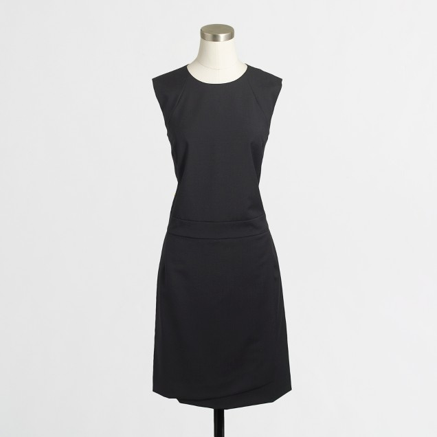 Flared dress in wool