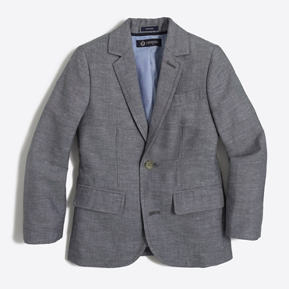 Boys' Thompson suit jacket in heathered linen