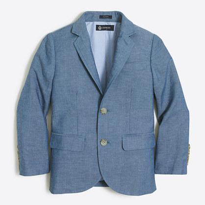 Boys' Thompson suit jacket in heathered linen
