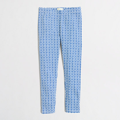 Girls' square dot leggings