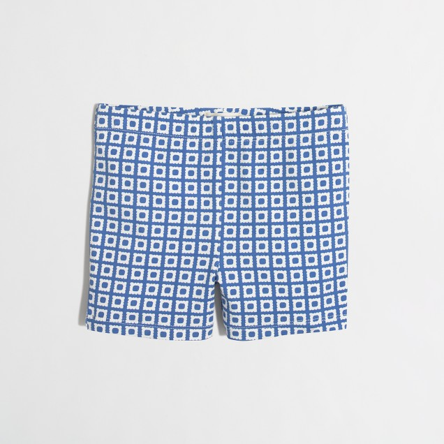 Girls' square dot handstand short