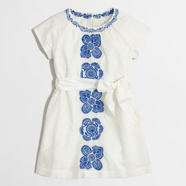 Girls' embroidered dress in floral