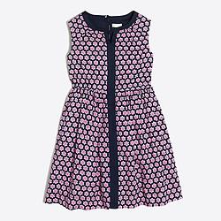 Girls' printed sleeveless dress with pockets