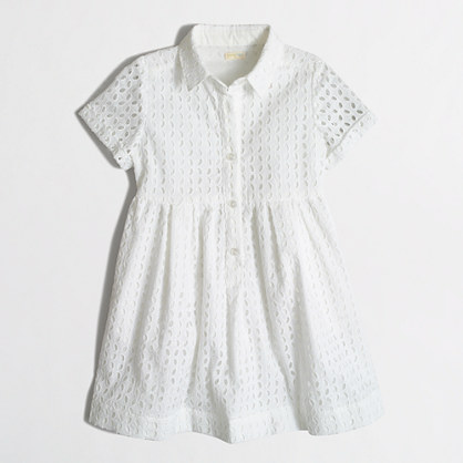 Girls' eyelet shirtdress