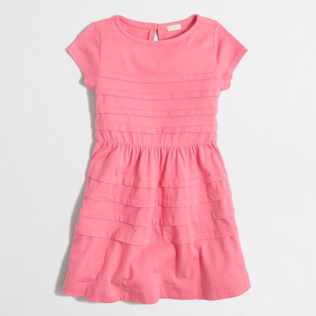 Girls' short-sleeve ruffle dress