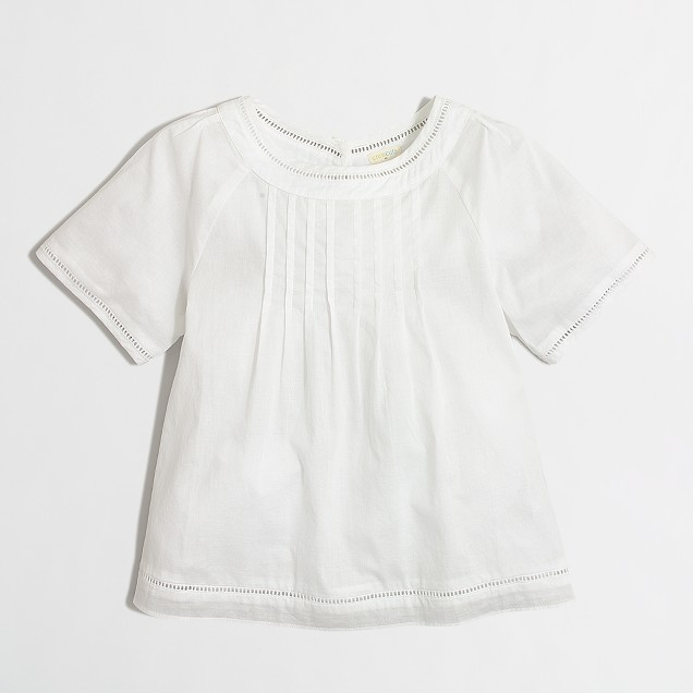 Girls' swingy pintuck top