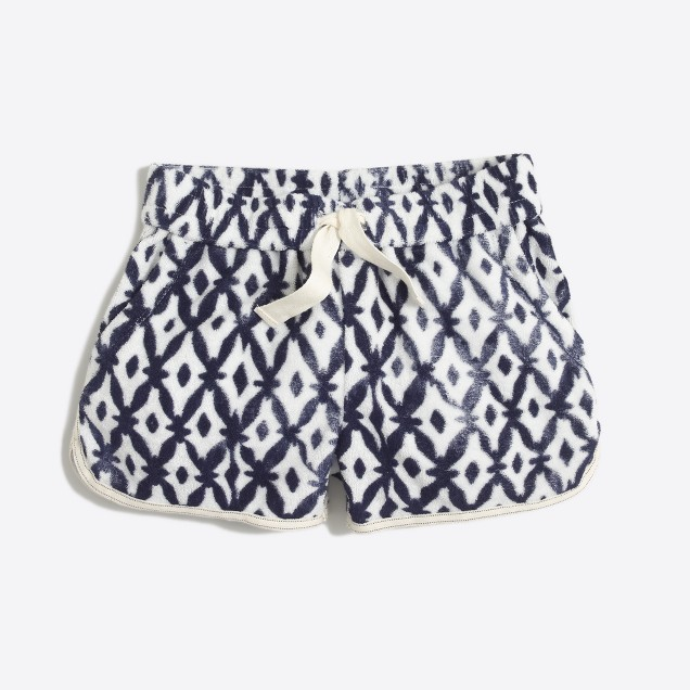 Girls' printed terry short