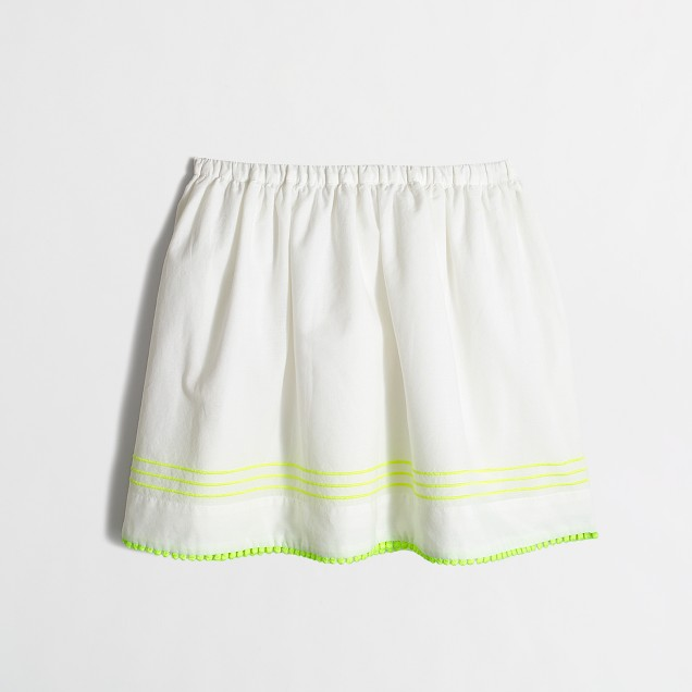 Girls' pom-pom skirt