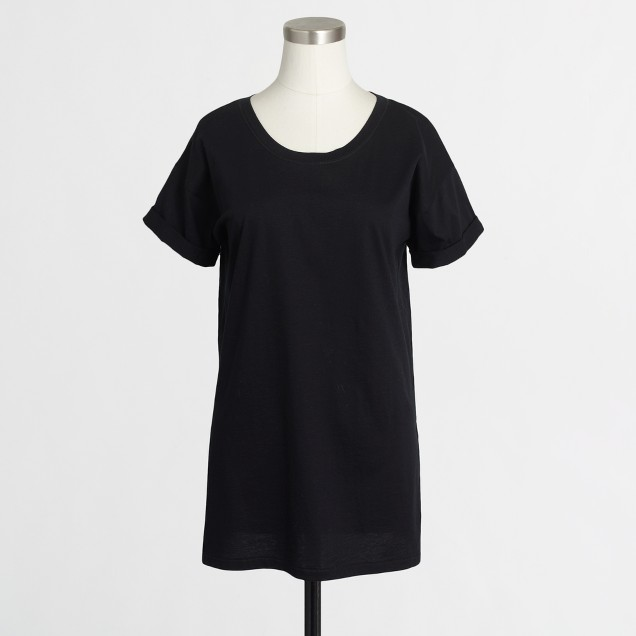 Side-slit luxe cotton tunic