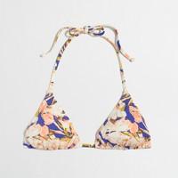 String bikini top in floral