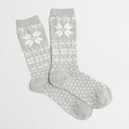 Factory snowflake trouser socks