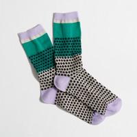 Factory colorblock dot trouser socks