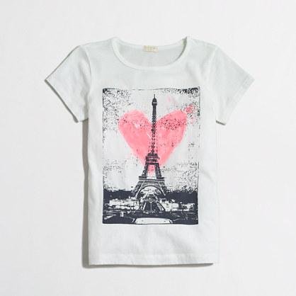 Girls' Paris love keepsake t-SHIRT