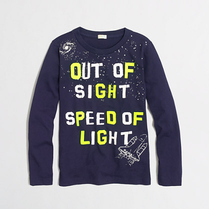 Factory boys' long-sleeve glow-in-the-dark out of sight storybook tee