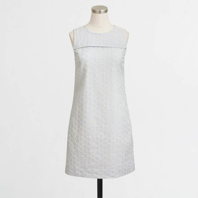Seersucker eyelet dress