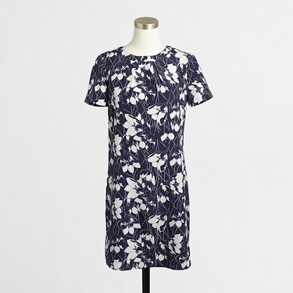 Silky floral shift dress