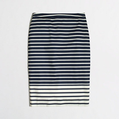 Pencil skirt in colorblock stripe