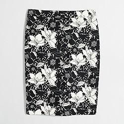 Factory basketweave pencil skirt