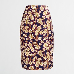 Factory basketweave pencil skirt