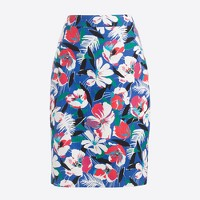 Basketweave pencil skirt
