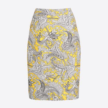 Petite pencil skirt in basketweave