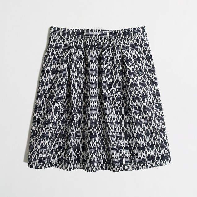Graphic jacquard skirt
